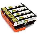Gohepi Ersatz für Epson 33 33XL Schwarz Druckerpatronen Kompatibel für Epson Expression Premium XP-640 XP-530 XP-830 XP-635 XP-900 XP-630 XP-540 XP-645, Pack of 4