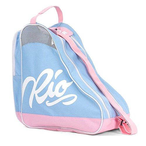 Rio Roller Unisex-Erwachsene Script Skate Bag Stofftasche, Mehrfarbig (Blue/Pink), 24x15x45 centimeters