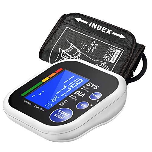 ATMOKO Oberarm-Blutdruckmessgerät, Vollautomatisch Blutdruckmessgerät und Pulsmessun, Großbild Display für 2 Nutzer Speicher, mit Arrhythmie-Erkennung, Garantierte Genauigkeit, Mit Bluetooth APP
