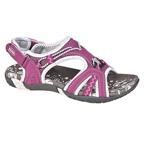 Northwest - Sandali marroni da donna, sandali da trekking con chiusura in velcro, ideali per le...