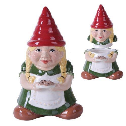 25,4cm Gnome Sweet Lady Gnome Cookie Essen Keramik Jar Figur (Mädchen)