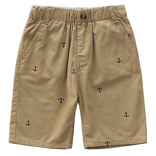 Grandwish Jungen Cargo Shorts Sommer Khaki Gr.128 -