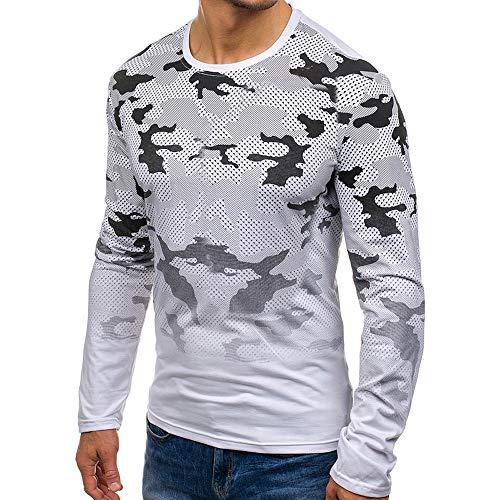 MIRRAY Herren Herbst Casual Camouflage Langarm Sweatshirt Tops Bluse