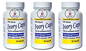 Ivory Caps Skin Whitening Lightening Support Pill (Pack Of 3)
