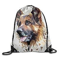 Drawstring Gym Bag, Sport Backpack, Travel Rucksack, German Shepherd Dog Print Drawstring Backpack Rucksack Shoulder Bags Gym Bag Sport Bag