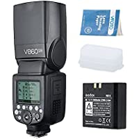 Godox V860II-N Flash Speedlite con Incorporado 2.4G con i-TTL Flash Automático + Li-on Batería + Flash Difusor Softbox para Nikon D800 D700 D7100 D7000 D5200 D5100 D5000