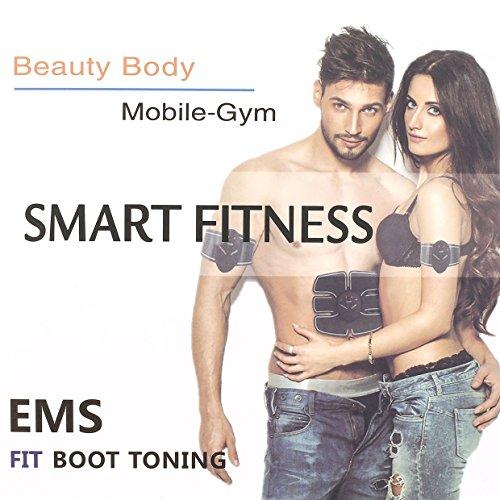 Muskel-Toner, Qew Msg Schönheit Körper Mobile-Gym Smart Fitness EMS Fit Boot Muskelaufbau Muskel Trainer Anzug Unisex Fitness-Training für Smart Body Building