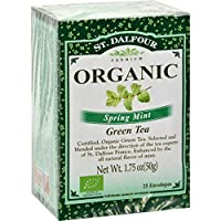 St. Dalfour Organic Spring Mint Tea, 25-count (Pack of6)