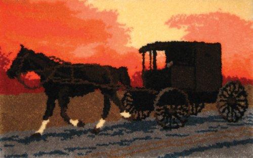 MCG Tessile 38,5 x 25 pollici Kit Amish Buggy fermo Hook