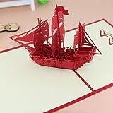 """POP UP Grußkarte 3D Grußkarten """"Segelboot"""" für Geburtstag Vatertag und"""