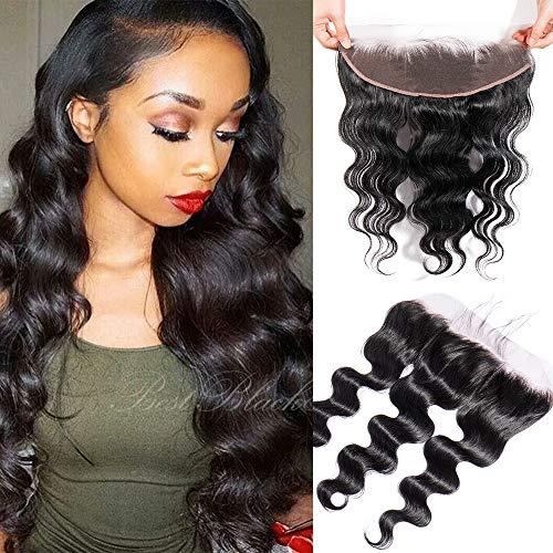 Closure human hair ricci umani capelli veri 20cm-50cm extension chiusura lace frontal free part 13