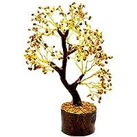 Edelsteinbaum mit heilenden indischen Kristallen, Geldbaum im Feng Shui, ca. 20,3 cm, 300 Kristallstücke (Tigerauge) preisvergleich bei billige-tabletten.eu