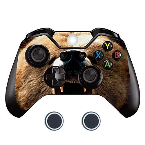 Sololife Dog Xbox One Controller Skin mit Zwei Daumengriffkappen aus Silikon für Microsoft Xbox One DualShock Wireless Controller bär -