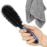 SARTEON Premium Felgenbürste für perfekte Reinigung Hochwertiger Stahl- und Alufelgen - Felgenreinigungsbürste - Felgen reinigen (3 Farben) (Blau)