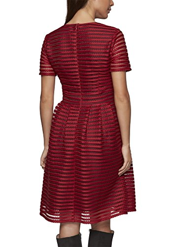 APART Fashion Kleid, Robe Femme Rouge - Rot (cranberry-schwarz 0)
