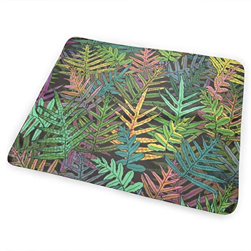Hawaiian Laua'e Ferns On Coffee 150 Washable Incontinence Pad Baby Changing Pad Pet Mat Large Size 25.5 x 31.5 inch (65cm*80cm)