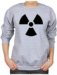 Nuclear Hazard Atomic Bomb Danger Symbol Womens Sweatshirt