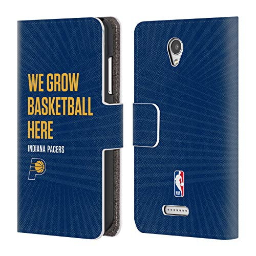Head Case Designs Offizielle NBA Pacers We Grow Basketball Here 2018/19 Team Slogan 2 Brieftasche Handyhülle aus Leder für Lenovo B/Vibe B