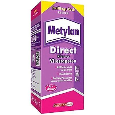 15x Metylan Direct Kleister Vliestapeten Kleber Zwillings-Pack 400 gr. von Henkel auf TapetenShop