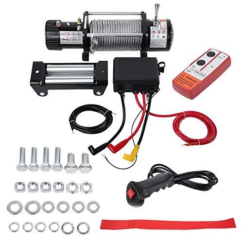 Elektrische Winde, Winde Elektrische 12V Seilwinde Remote Power Without 13000lbs Draht für Auto-Boots-Anhänger LKW SUV -