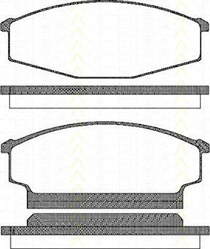 Preisvergleich Produktbild Triscan 8110 14942 Bremsbelagsatz, Scheibenbremse - (4-teilig)