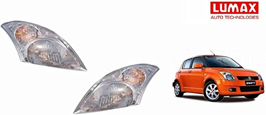 Lumax Car Crystal Headlight Assembly SET OF 2- Maruti Swift Old