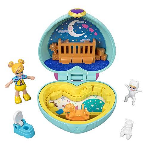 Polly Pocket GFM51 - Mini Schatulle Polly Babysitter, Puppen Spielzeug ab 4 Jahren