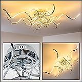 Designer Decken-Leuchte Moskau – minimalistische Wohnzimmerlampe mit geschwungenen Lichtleisten – sehr wirkungsvolle Deckenbeleuchtung für moderne Wohnräume – LED Lampe mit fest installierten Lichtkörpern