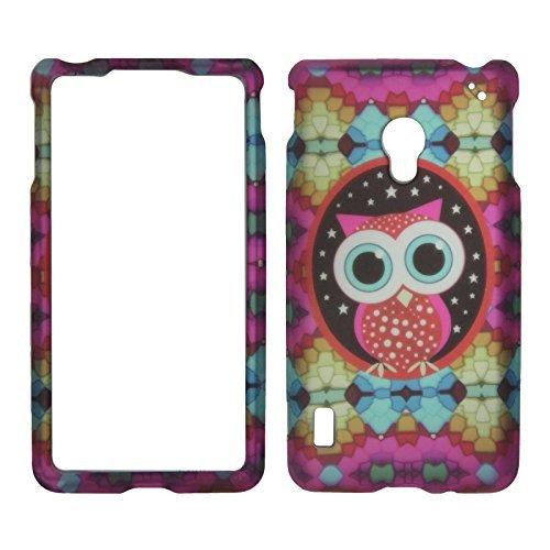 2D Colorful Eule LG Lucid 2II VS870Verizon Schutzhülle Cover Snap auf Cover Fällen Displayschutzfolie matt gummierte Oberfläche Hard - Verizon Lg Telefon Für Lucid Fällen