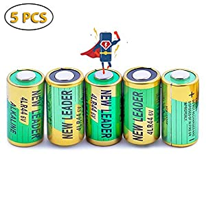 MASBRILL Batteries de Collier Anti-aboiement avec 5 Piles alcalines 476A / PX28A / A544 / K28A / L1325 pour PCS 6V 4LR44