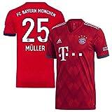 Bayern München Home Trikot 2018 2019 + Müller 25 - M