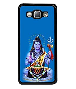 PrintVisa Designer Back Case Cover for Samsung Galaxy J1 (6) 2016 :: Samsung Galaxy J1 2016 Duos :: Samsung Galaxy J1 2016 J120F :: Samsung Galaxy Express 3 J120A :: Samsung Galaxy J1 2016 J120H J120M J120M J120T (Beautiful Shiva shankar in blue background)