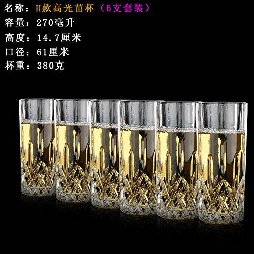 ZBZQ-Glas Schale, Tasse Tee, Kreative, Bier Cup, ausländischen Wein, Whisky Glas, multifunktionale Tasse Tee, H Modell Six Pack nur (Six Pack Bier)