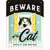 Nostalgic-Art 26208 Animal Club - Animal Club - Beware of the Cat, Blechschild 15x20 cm