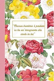 Libro 110 pagine a righe agenda regalo insegnante fine anno Taccuino Journal Agenda Regalo maestra