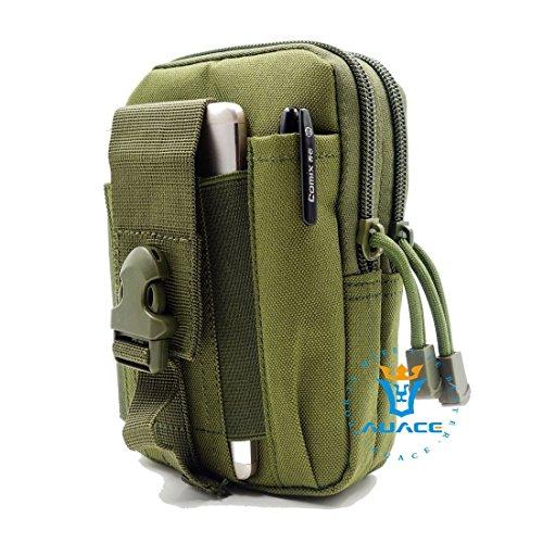 Multifunzione sopravvivenza Gear Pouch Tattico Molle Pouch fondina Esercito, Campeggio portatile Pouch Bag Borse Marsupio strumento Pouch Custodia da viaggio Custodia, OR OD