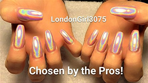 Meilleure Qualité de qualité supérieure Ultra Fine 15um holographique Chrome Rainbow Poudre Pigment – 3 ml Pot de fleurs avec 0,5 g de Pigment – vendeur britannique