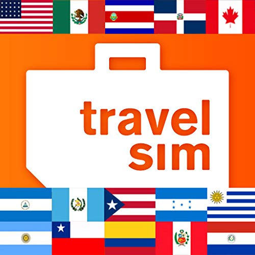 Sim Karte für Amerika - USA, Kanada, Mexiko, Costa Rica, die Dominikanische Republik, Guatemala, Honduras, Nicaragua, Puerto Rico, Argentinien, Brasilien, Chile, Kolumbien, Paraguay, Peru, Uruguay-1GB