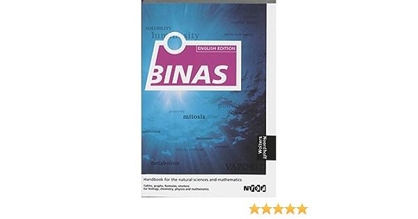 Binas English Edition Binas Handbook For The Natural Sciences And Mathematics Amazon De Verkerk G Fremdsprachige Bücher