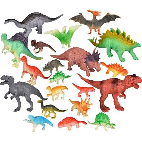 20 Piezas de Dinosaurios de Figuras Realistas Conjunto de Juguetes de