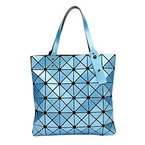 Frauen Falten Geometrische Umhängetasche Mode Persönlichkeit Lässig Tasche Skyblue