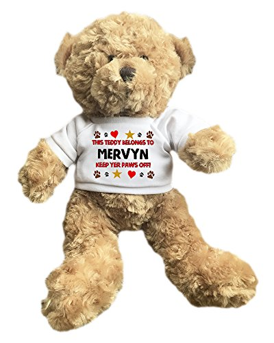 mervyn-personalised-name-paws-off-23cm-approx-seated-height-teddy-bear