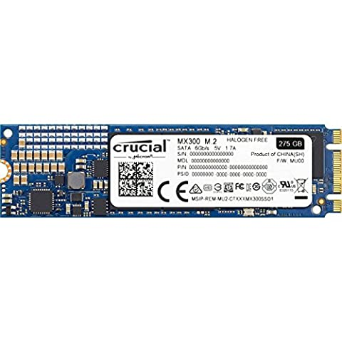 Crucial CT275MX300SSD4 MX300 275Go SSD Interne M.2 (2280)