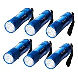 6 x LED Taschenlampen + 18 Batterien Kindergeburtstag Mitgebsel Party Kinder