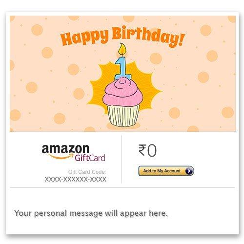 Happy Birthday (1st) - E-mail Amazon Pay Gift Card