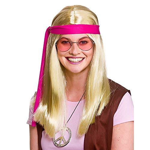 Unbekannt Woodstock Hippie Kit - Blonde Wigs