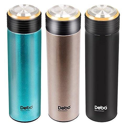 Debo Stainless Steel Vacuum Travel Water/Coffee Mug Bottle, Double Walled