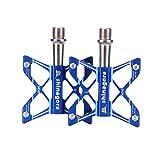 Shinagora Fahrradpedale, Mountainbike Pedale aus CNC Aluminiumlegierung, Anti-Rutschpedal für MTB, Rennrad, Stadtrad. (Blau)