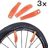 JZK Set 3 Levacopertoni leve per copertoni leva gomma MTB bici bicicletta, leva smonta copertoni bici, arancione