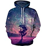 3D gedruckt Weltall Galaxy Mens Fashion lustige Hip Hop Sweatshirts Oberbekleidung Hoodie